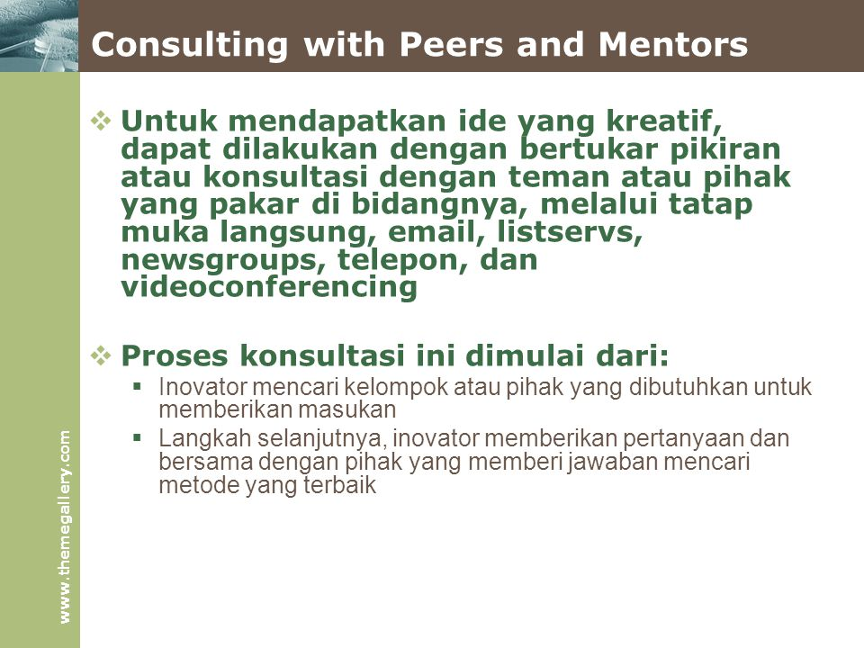 Consulting with Peers and Mentors