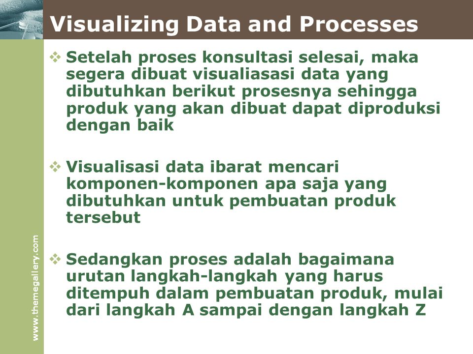 Visualizing Data and Processes