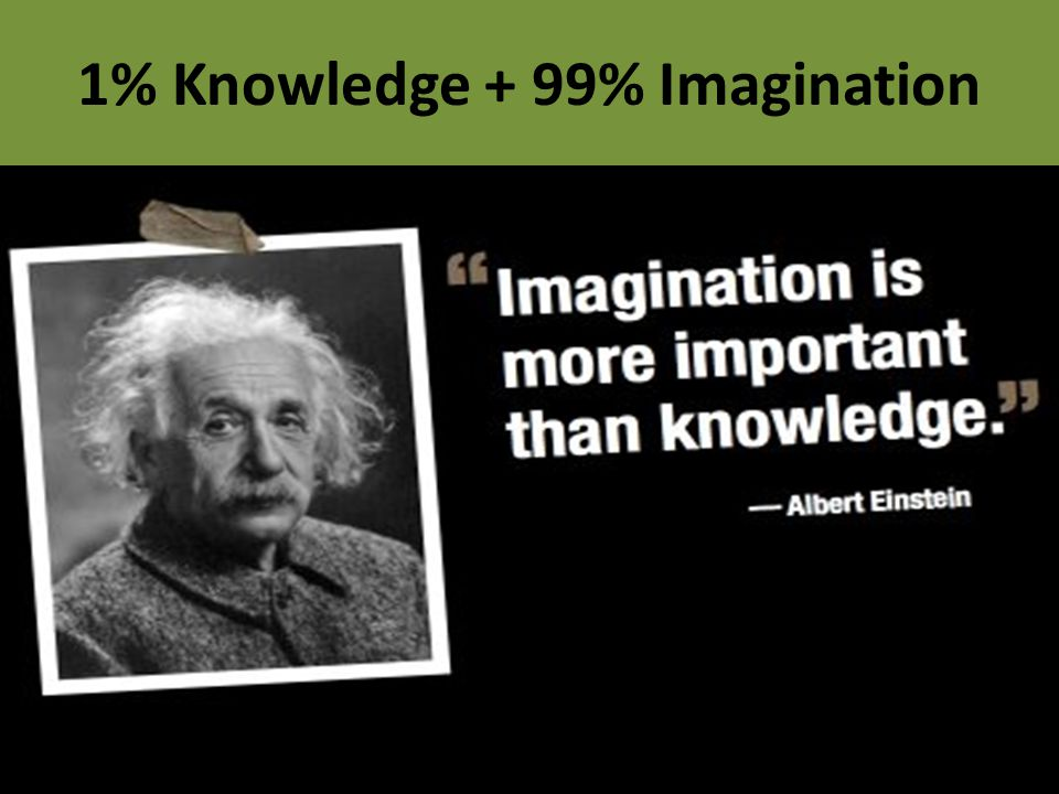 1% Knowledge + 99% Imagination