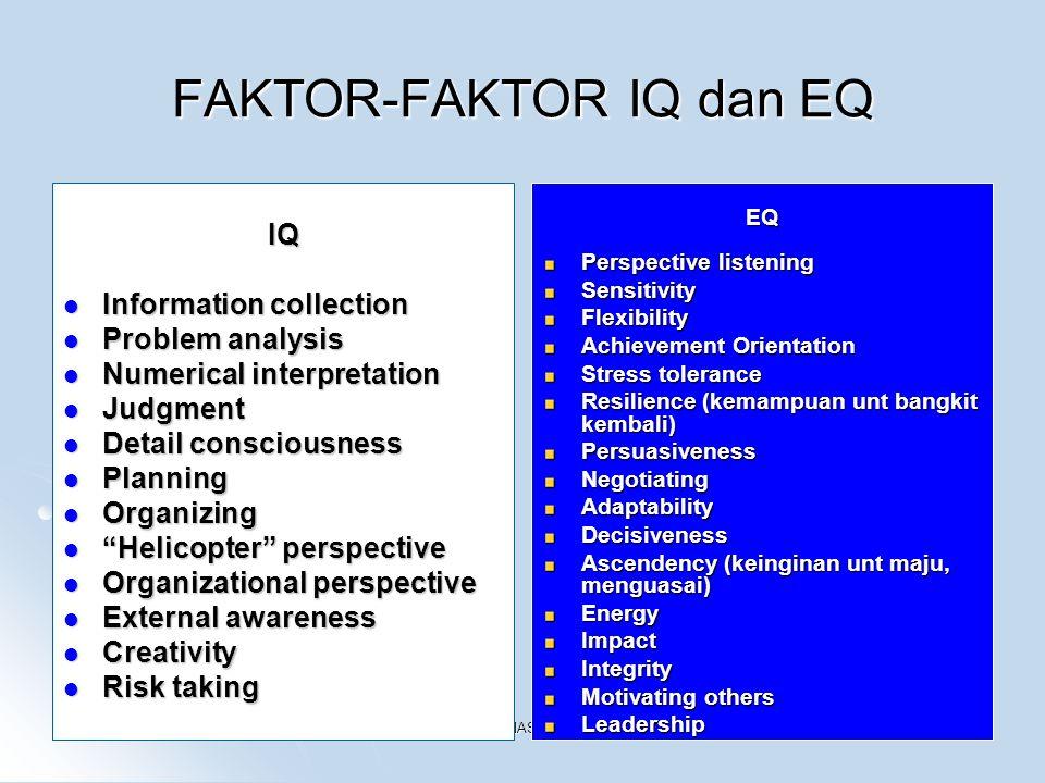 FAKTOR-FAKTOR IQ dan EQ