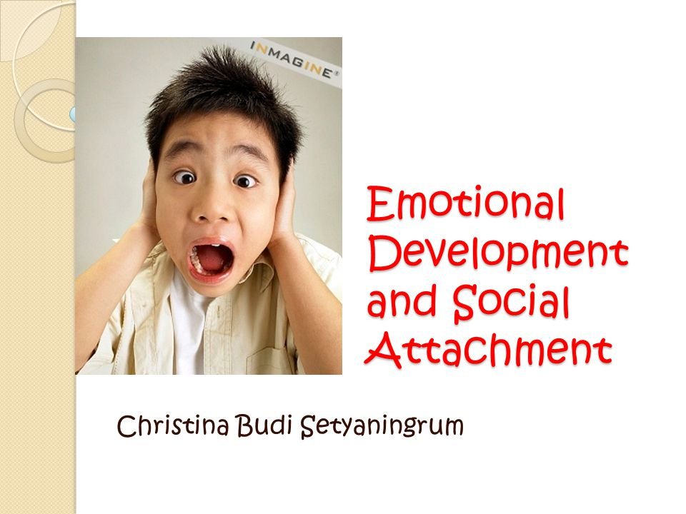 Emotional Development and Social Attachment
