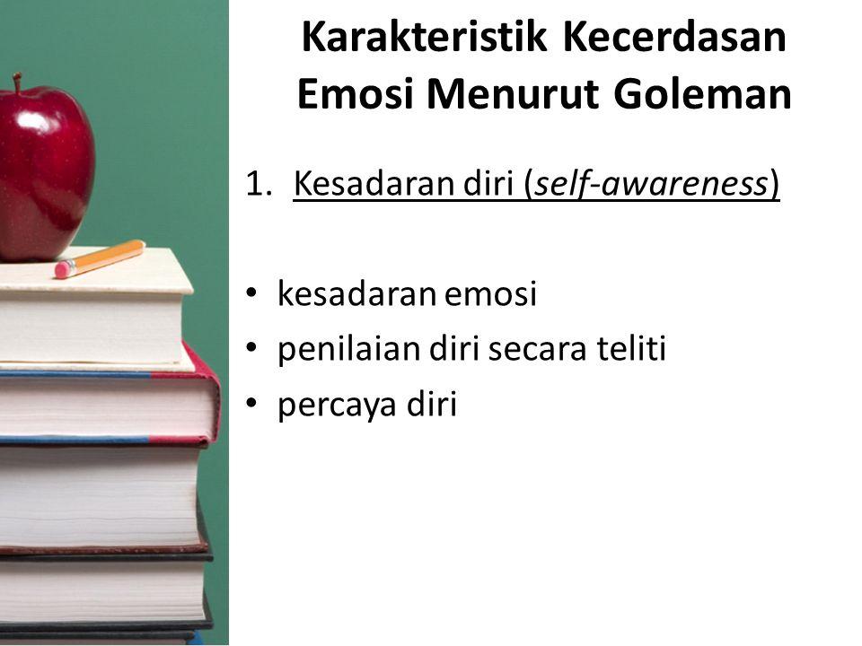 Karakteristik Kecerdasan Emosi Menurut Goleman