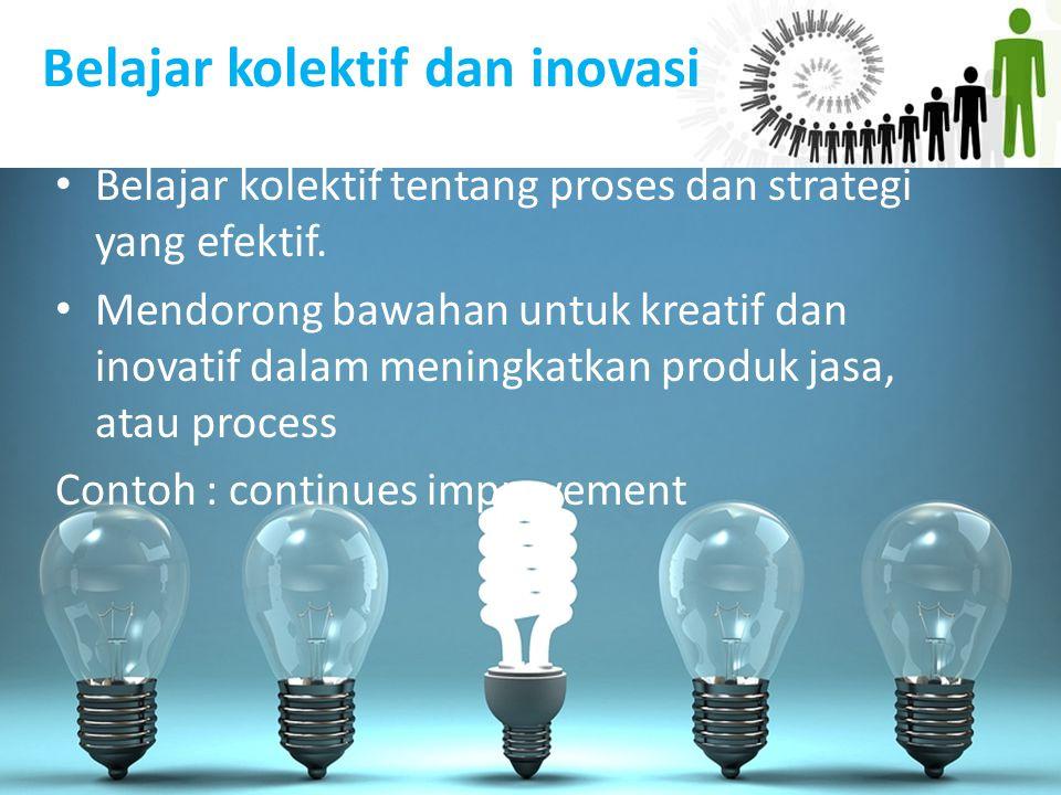 Belajar kolektif dan inovasi