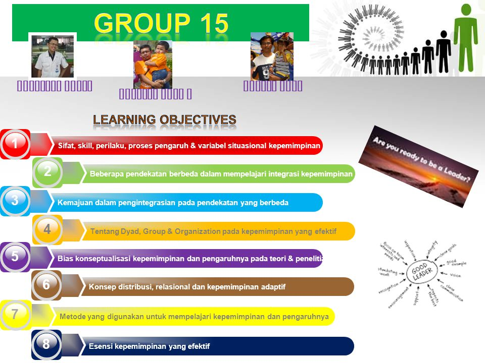 GROUP 15 1 2 3 4 5 6 7 8 LEARNING OBJECTIVES SUGIARTO AGUNG