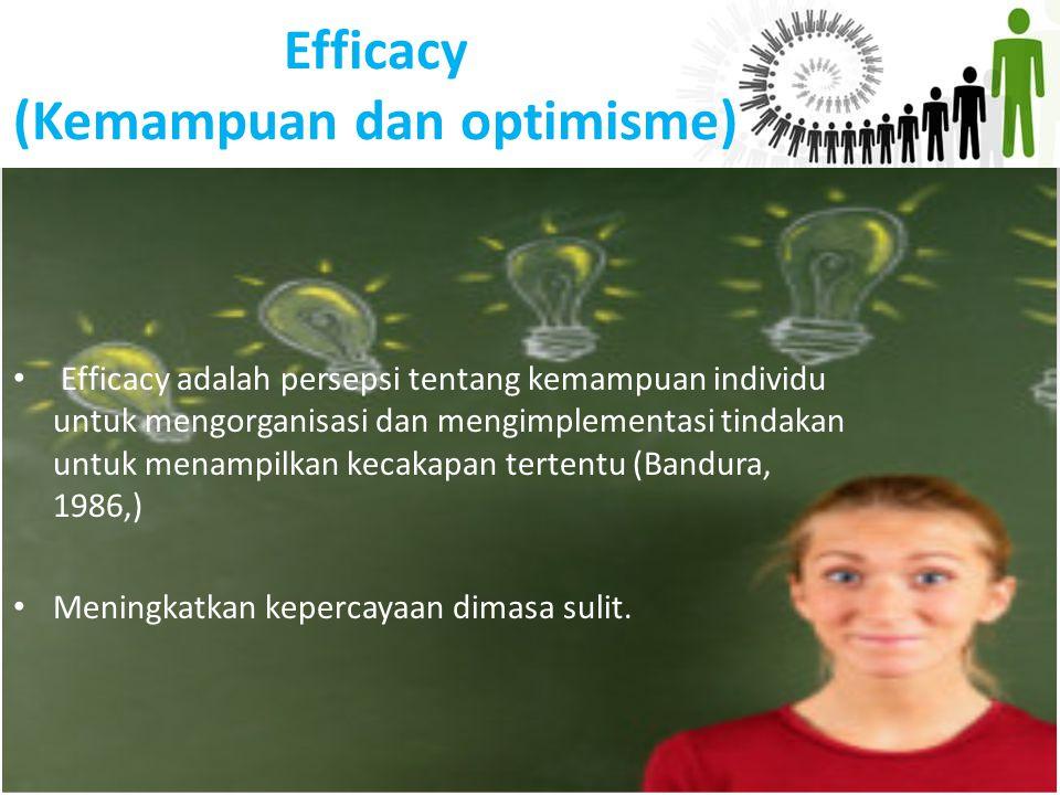 Efficacy (Kemampuan dan optimisme)