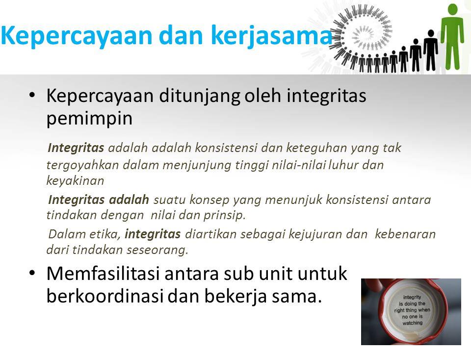 Kepercayaan dan kerjasama