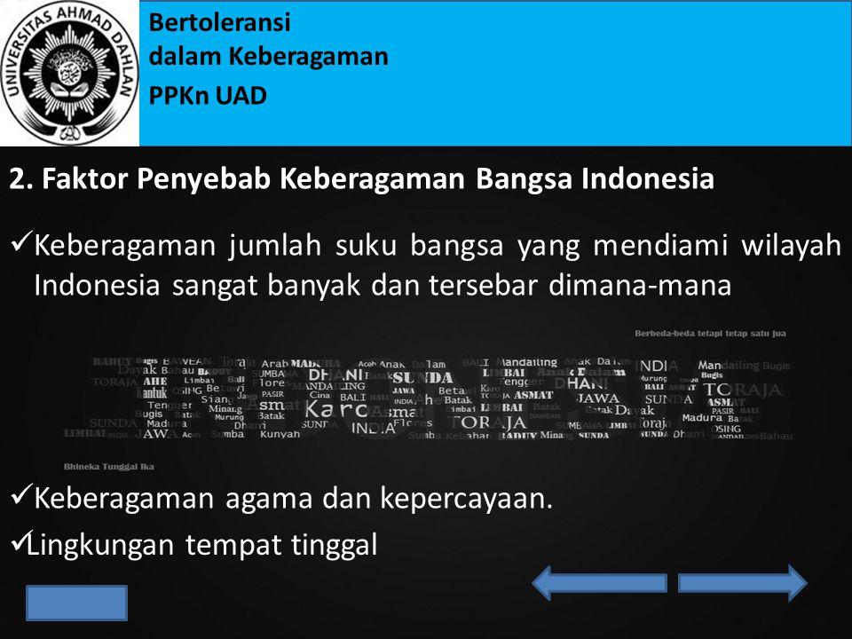 2. Faktor Penyebab Keberagaman Bangsa Indonesia