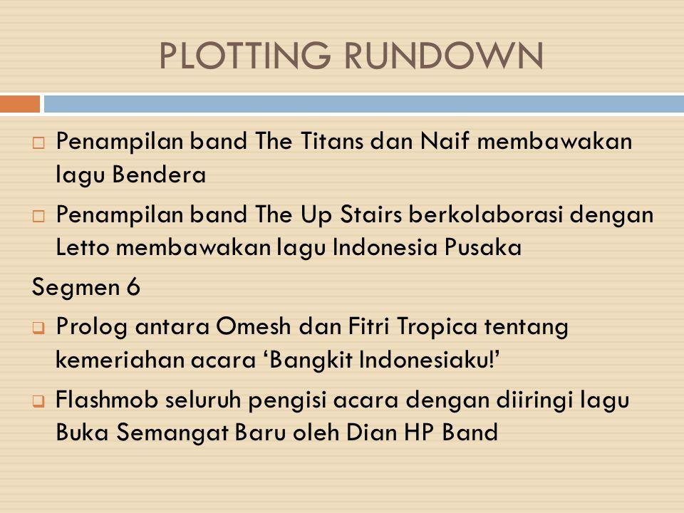 PLOTTING RUNDOWN Penampilan band The Titans dan Naif membawakan lagu Bendera.