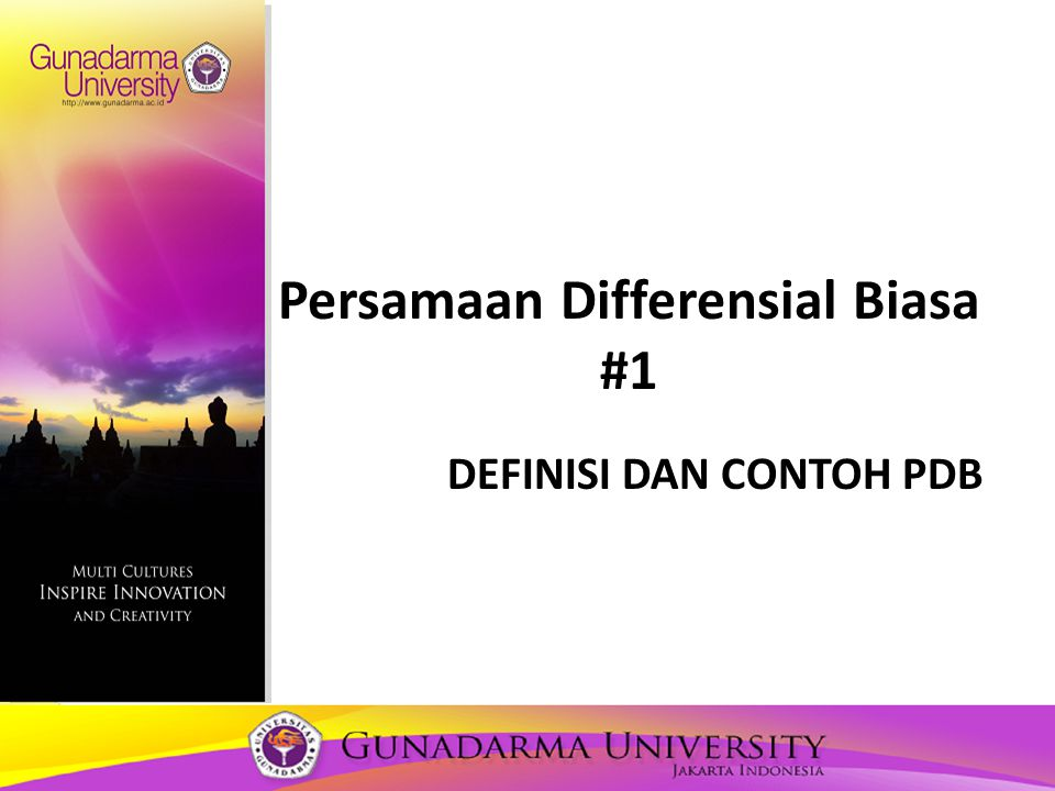 Persamaan Differensial Biasa #1