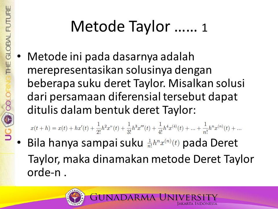 Metode Taylor …… 1