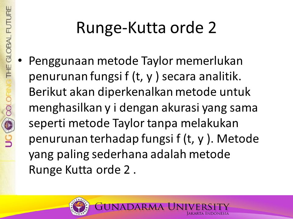 Runge-Kutta orde 2