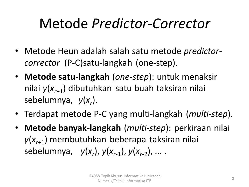 Metode Predictor-Corrector