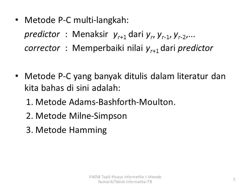 Metode P-C multi-langkah: