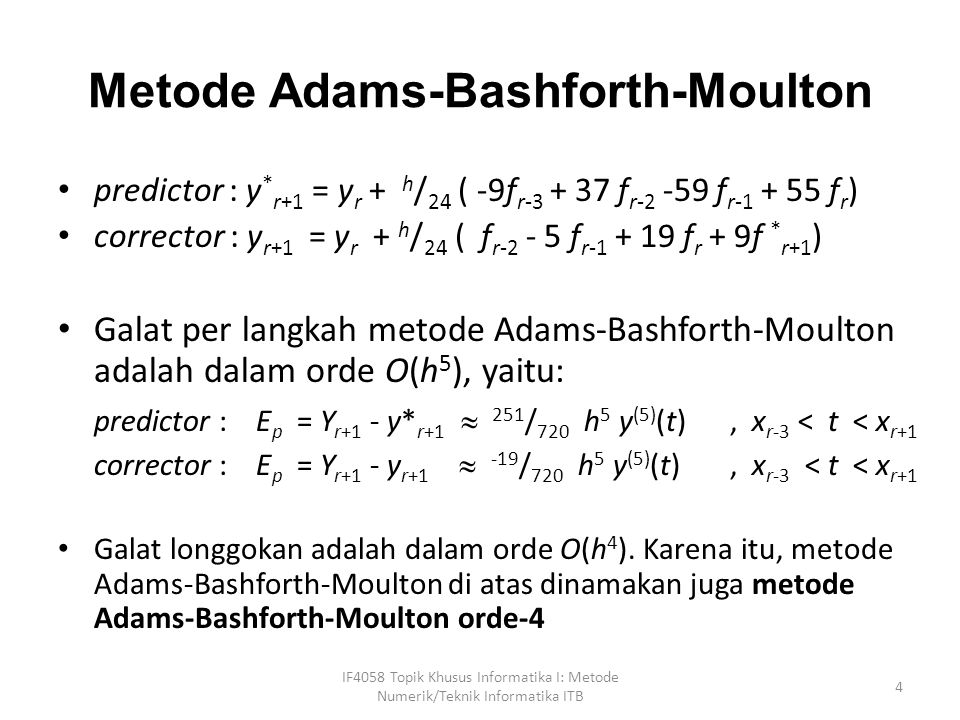 Metode Adams-Bashforth-Moulton