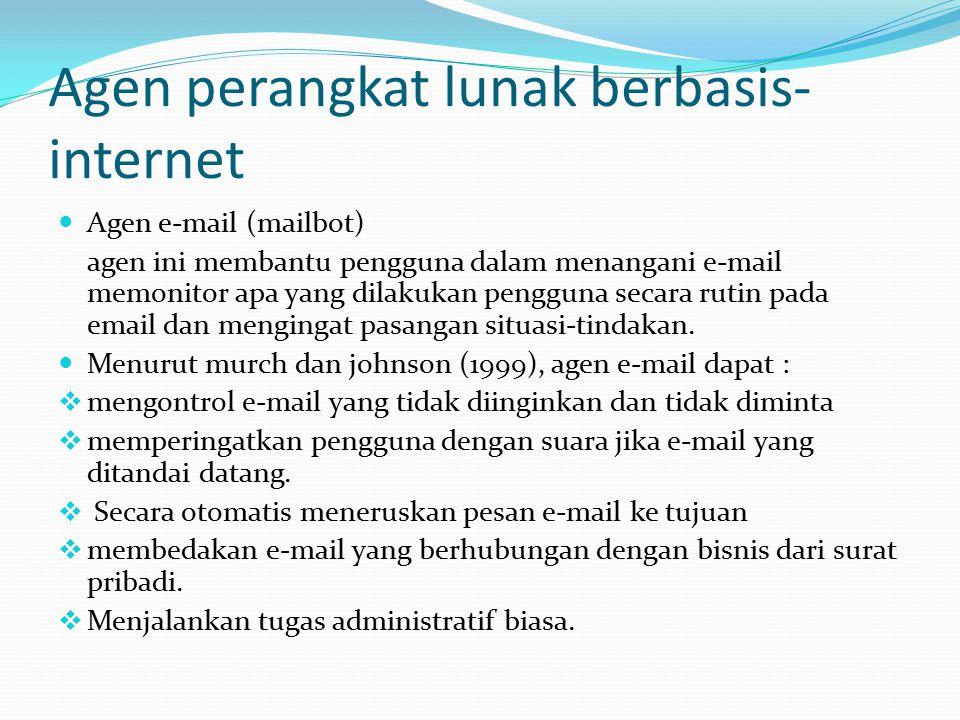 Agen perangkat lunak berbasis-internet