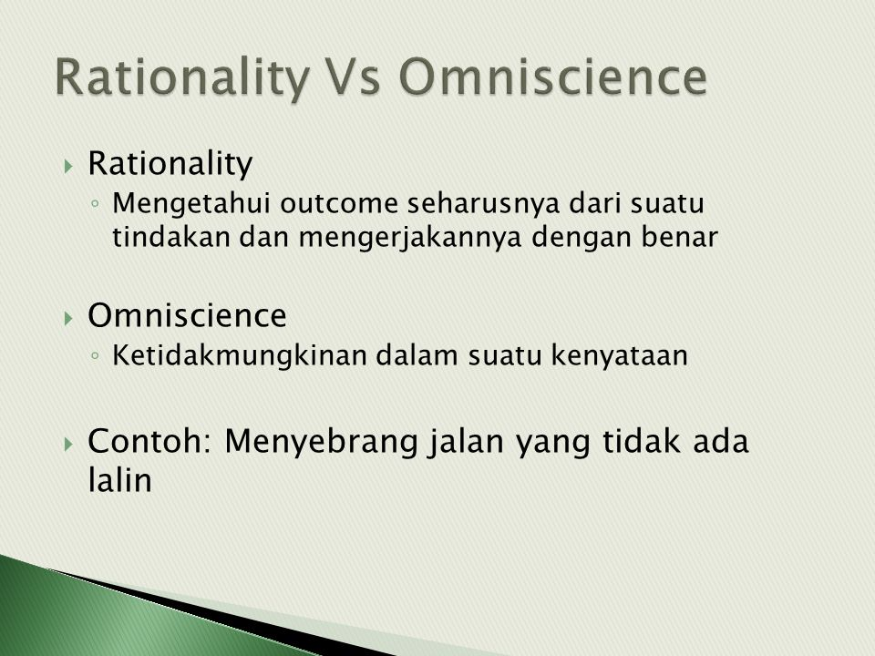 Rationality Vs Omniscience