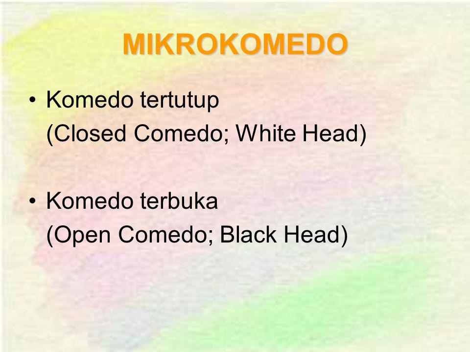 MIKROKOMEDO Komedo tertutup (Closed Comedo; White Head) Komedo terbuka