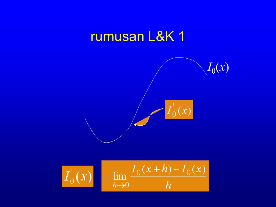 rumusan L&K 1 I0(x)
