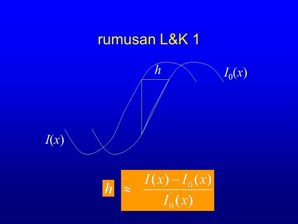 rumusan L&K 1 h I0(x) I(x)