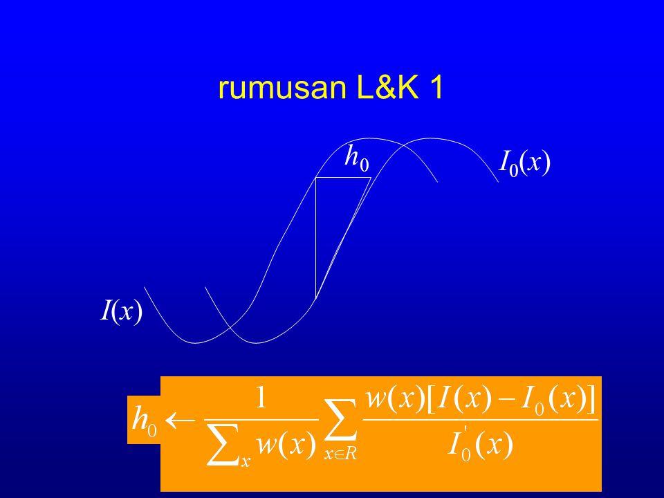 rumusan L&K 1 h0 I0(x) I(x)