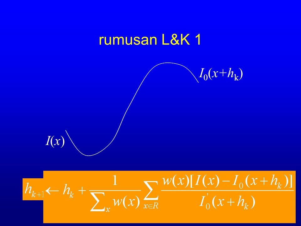 rumusan L&K 1 I0(x+hk) I(x)