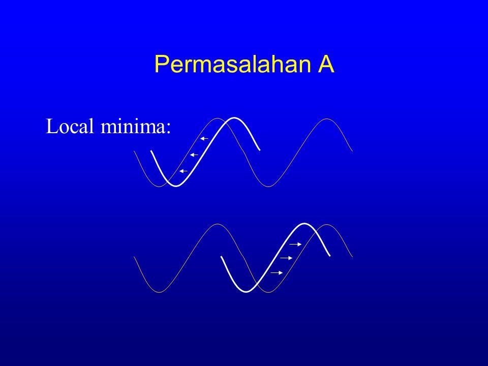 Permasalahan A Local minima: