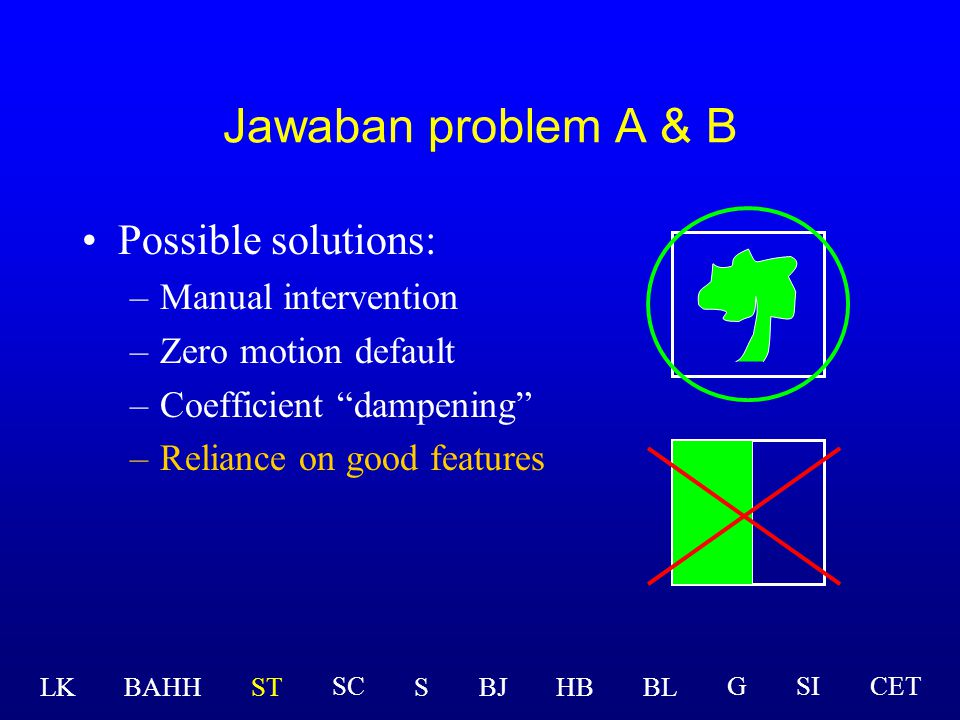 Jawaban problem A & B Possible solutions: Manual intervention