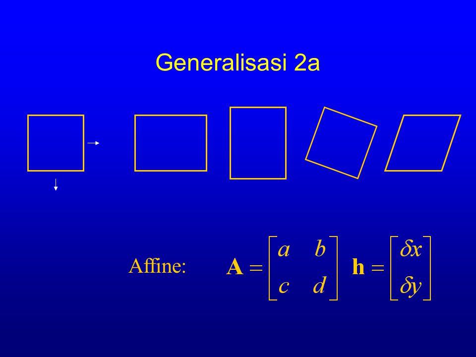 Generalisasi 2a Affine: