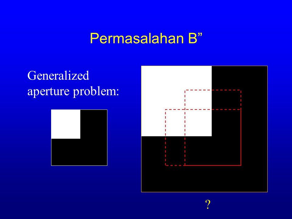 Permasalahan B Generalized aperture problem: