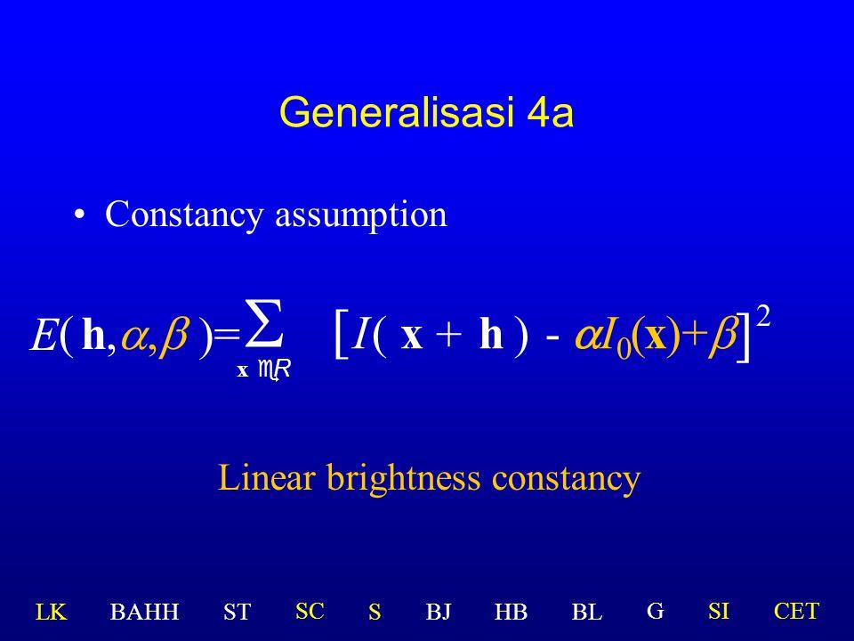 Linear brightness constancy
