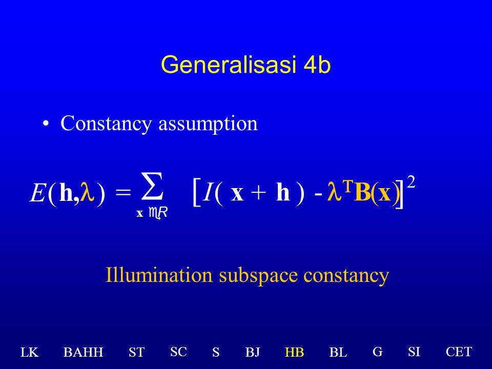 Illumination subspace constancy
