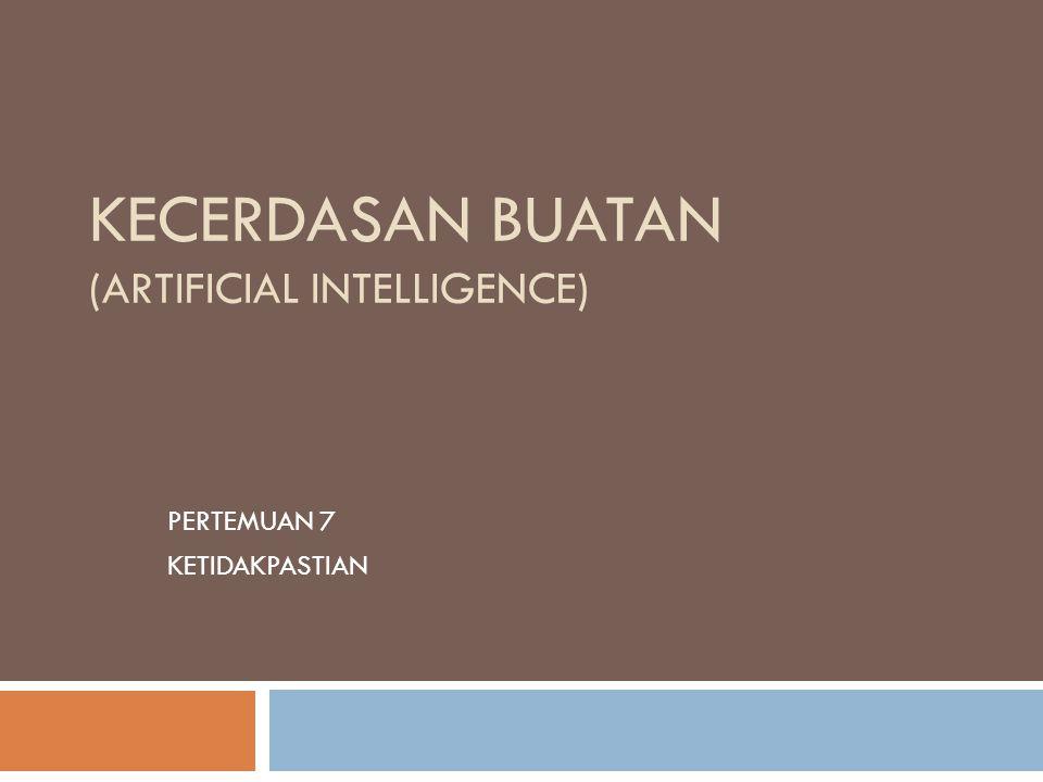 KECERDASAN BUATAN (ARTIFICIAL INTELLIGENCE)