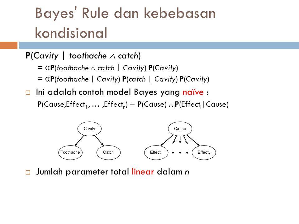 Bayes Rule dan kebebasan kondisional