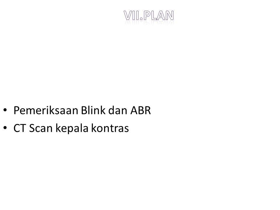 vii.plan Pemeriksaan Blink dan ABR CT Scan kepala kontras