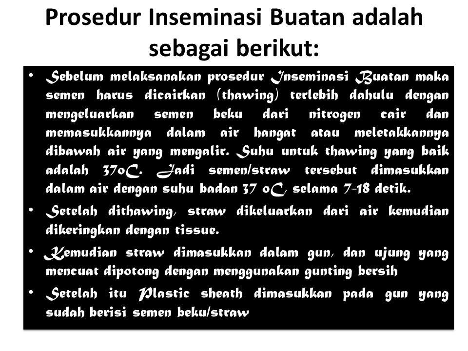 Prosedur Inseminasi Buatan adalah sebagai berikut: