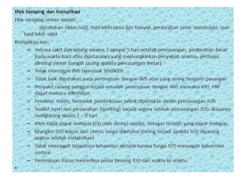 Efek Samping dan Komplikasi