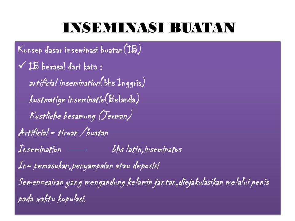 INSEMINASI BUATAN Konsep dasar inseminasi buatan(IB)