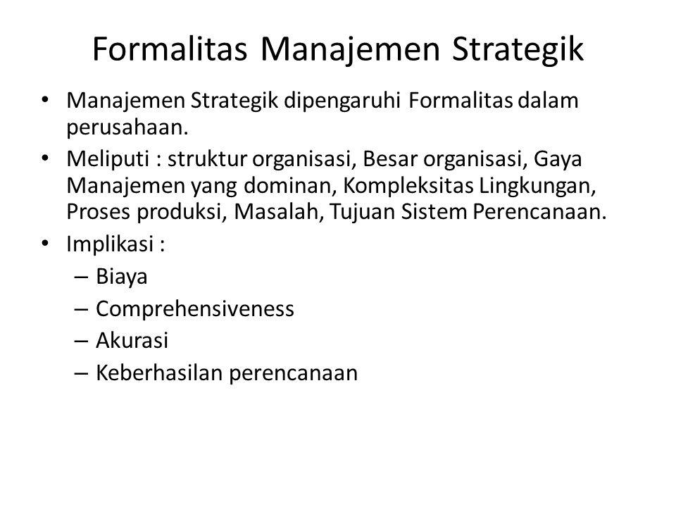 Formalitas Manajemen Strategik