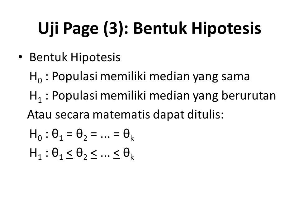 Uji Page (3): Bentuk Hipotesis