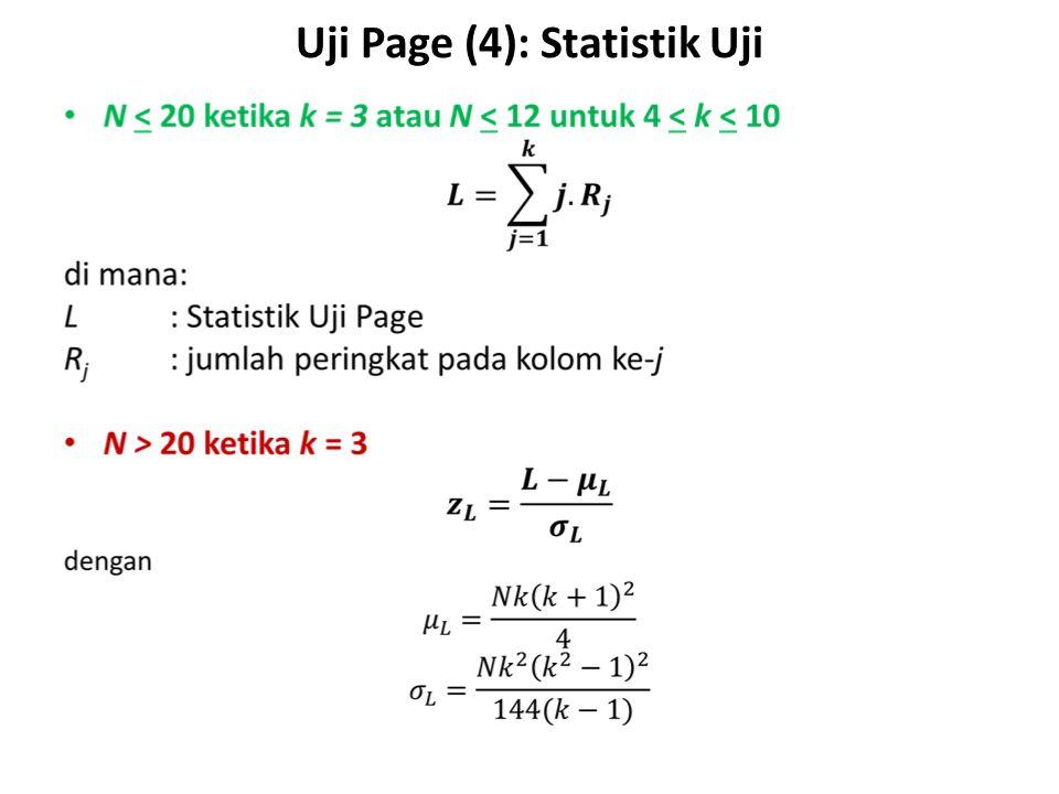 Uji Page (4): Statistik Uji