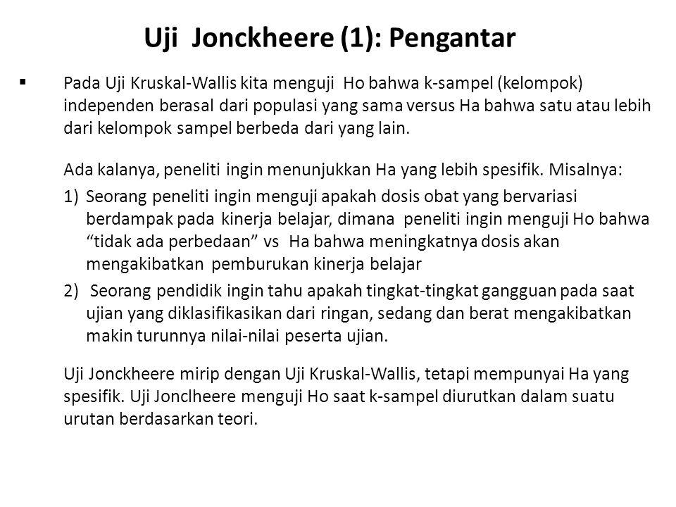Uji Jonckheere (1): Pengantar