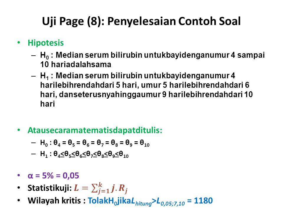 Uji Page (8): Penyelesaian Contoh Soal