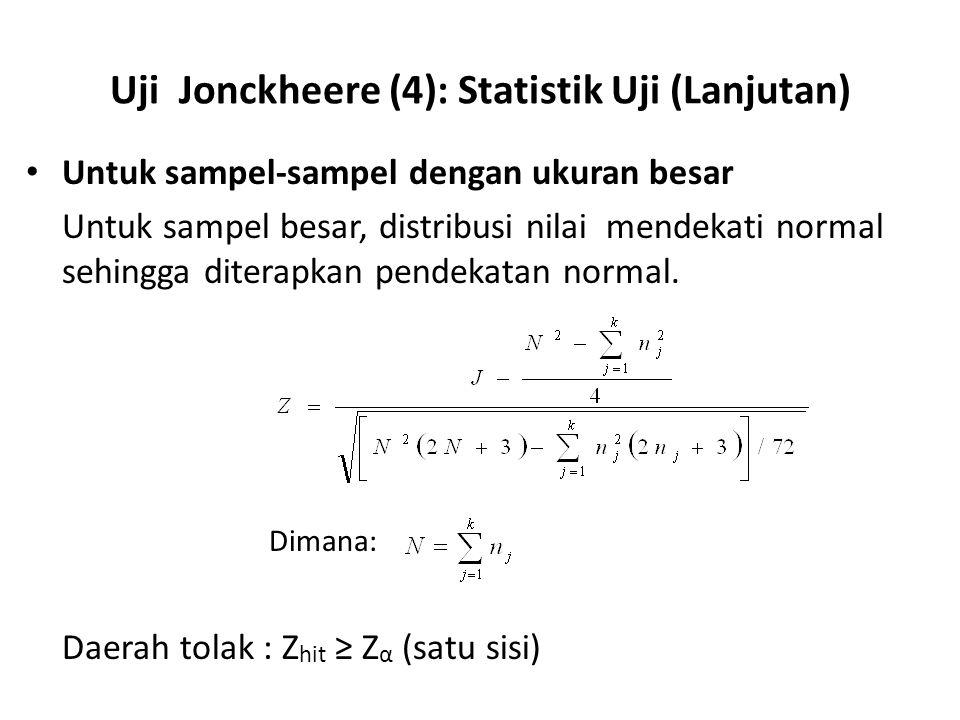 Uji Jonckheere (4): Statistik Uji (Lanjutan)