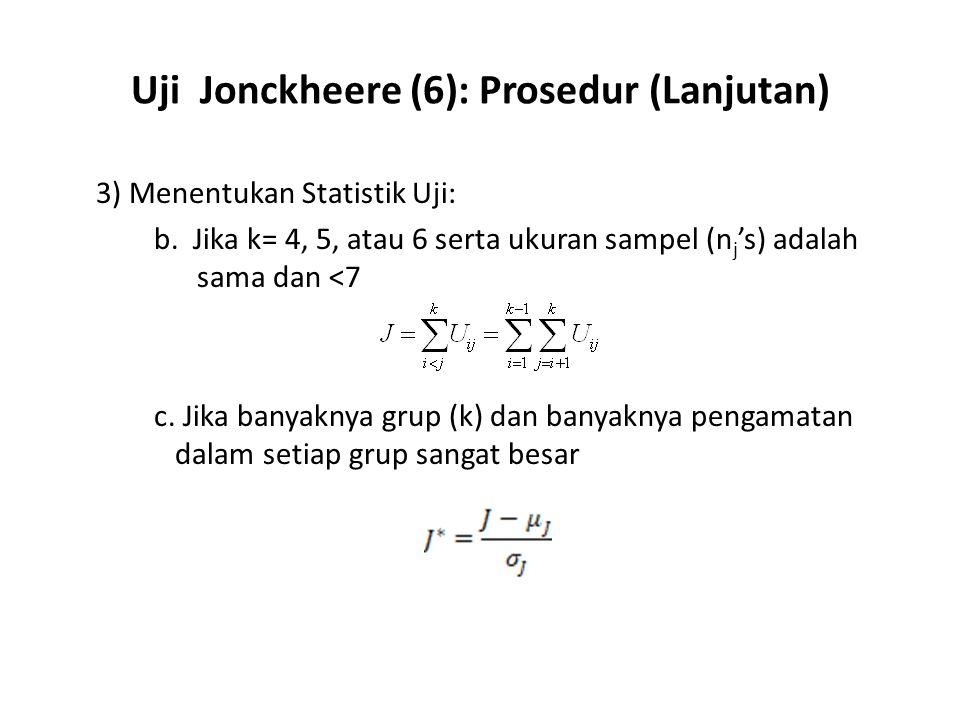 Uji Jonckheere (6): Prosedur (Lanjutan)