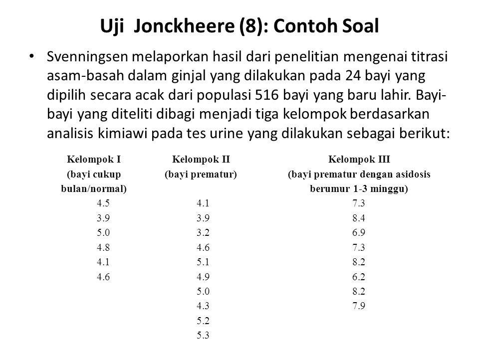 Uji Jonckheere (8): Contoh Soal