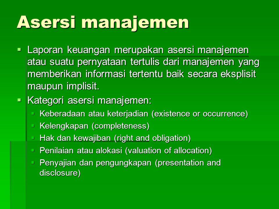 Asersi manajemen