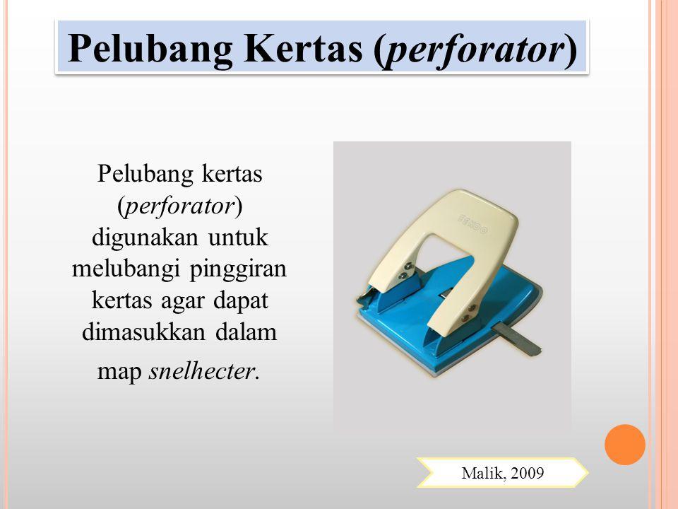Pelubang Kertas (perforator)
