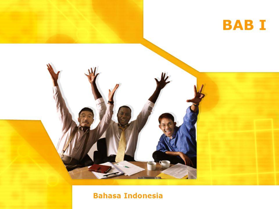 BAB I Bahasa Indonesia