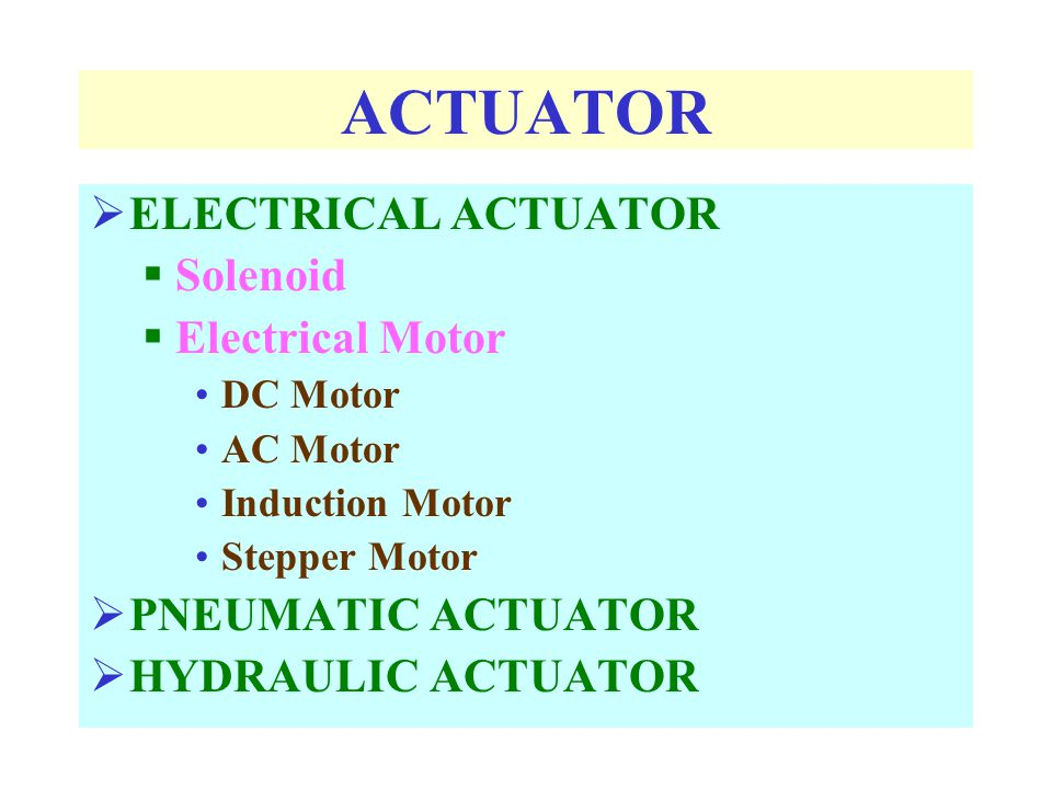 ACTUATOR ELECTRICAL ACTUATOR Solenoid Electrical Motor