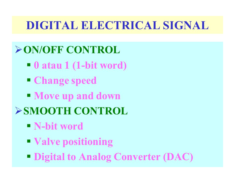 DIGITAL ELECTRICAL SIGNAL